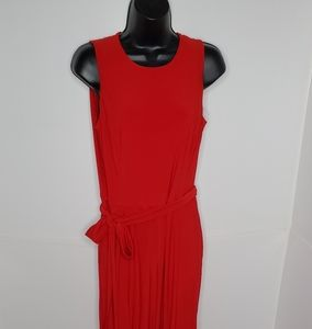 Lauren Ralph Lauren Bright Red Jumpsuit wide-leg 8